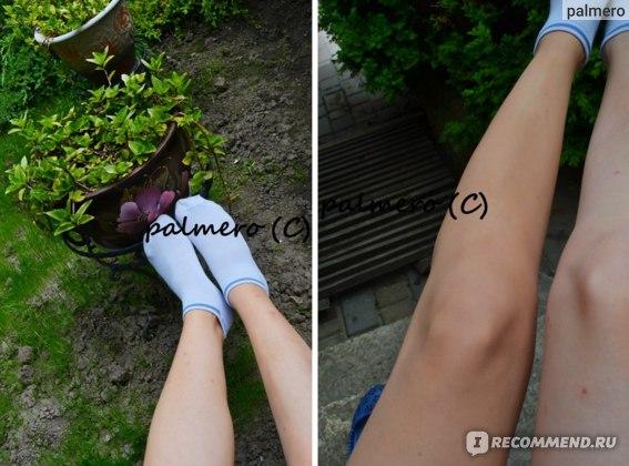 """Левое фото - ноги """"ню"""", на правом фото - левая нога с покрытием"""