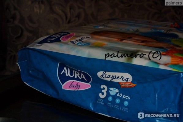 Подгузники Aura  baby diapers фото