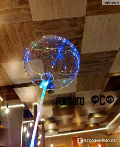 Светящийся воздушный шар Bobo Бобо со светодиодами led на палочке фото