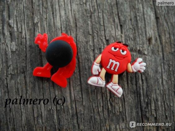 Джибитсы Accessory «M&M's» (красный) Jibbitz Джиб-02ММ фото