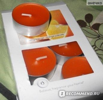 Свечи ароматические Bolsius в гильзах, набор 6 штук фото