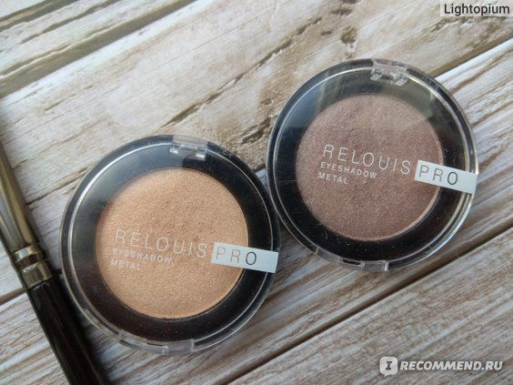 Relouis PRO eyeshadow METAL 52 COCOA MILK, 53 OH MY GOLD