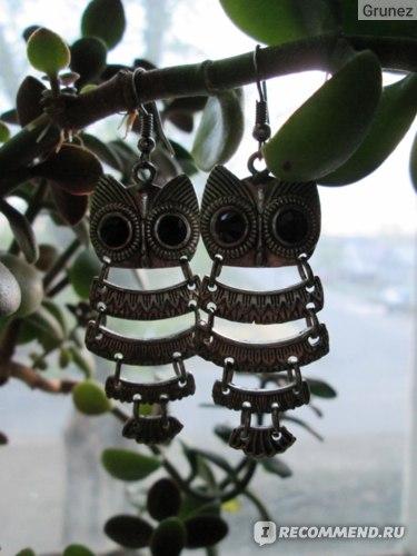 Серьги Miniinthebox Vintage Style Owl Shape Earrings фото