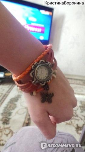 Часы Aliexpress High Quality Women Genuine Leather Vintage Watch bracelet Wristwatches  фото
