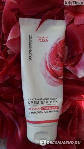Ультраувлажняющий крем для рук Крымская Роза на основе розовой воды с миндальным маслом фото