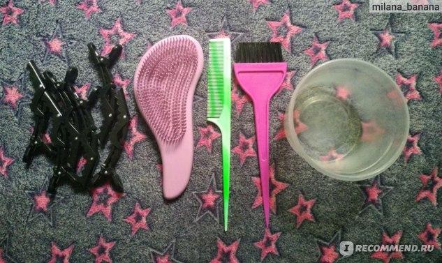 Все необходимые предметы для окрашивания