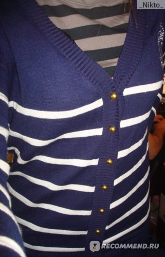 Кофта AliExpress Free Shipping 2013 Spring & Autumn Women's Sailor's Striped Cardigan, FasCotton Thin M; L Y7076-A3003 фото