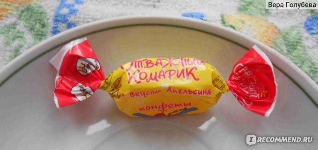 """Желейные конфеты АККОНД """"Отважный комарик"""" со вкусом апельсина фото"""