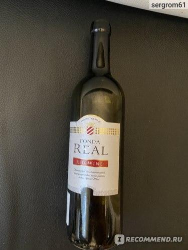 Вино красное сухое Fonda Real red wine фото