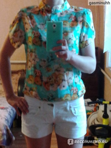 Блузка AliExpress Hot Sale casual women blouse short-sleeve floral print chiffon blouse top, summer shirts S/M/L/XL/XXL/XXXXL dropship фото