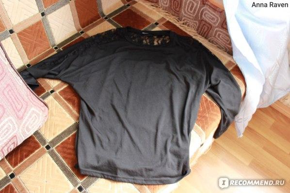 Кофта AliExpress Women's Long Sleeve Sweatshirt Crew Neck Batwing Dolman Lace Casual Loose Blouse Tops Sweatshirts фото