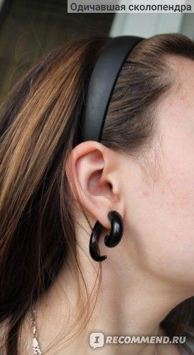 Серьги Aliexpress Обманки спирали FAKE Spiral Taper Solid Transparent Acrylic Illusion Stud Ear Cheater Plug фото