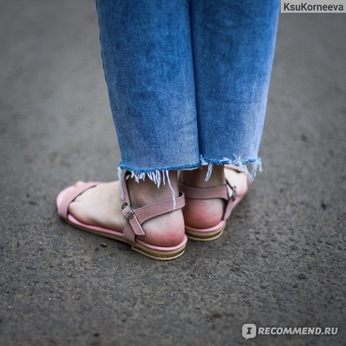 Босоножки Aliexpress Cow Suede Flat Sandals Women Summer Ladies New Genuine Leather Flat Sandal A245 Casual Woman Pink Black Buckle Comfortable Shoes фото