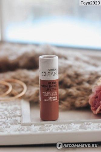 Губная помада Catrice Clean ID Ultra High Shine Lipstick фото
