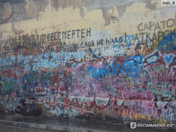 Знаменитая стена Цоя на Арбате