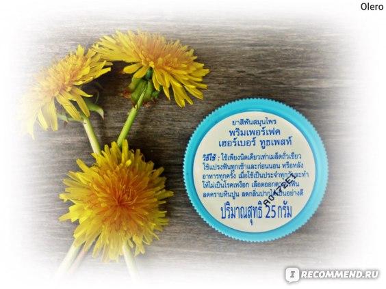 Зубная паста POOMPUKSA Prim Perfect Тайская Herbal Toothpaste 25 g фото