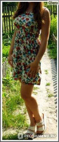 Платье летнее AliExpress free shipping 2013 women's new fashion summer Floral Dress, casual dress for women фото
