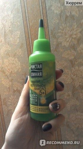 Масло для волос Чистая линия Репейное легкое 5 в 1 фото