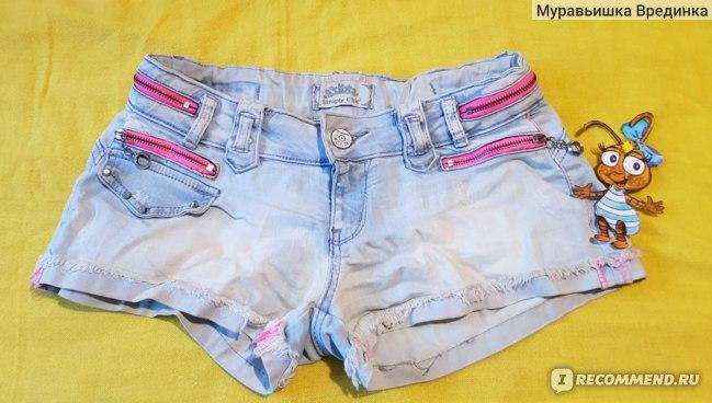 Шорты Simply Chic джинсовые с декоративными элементами фото