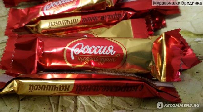 Конфеты Россия - щедрая душа Шоколадная с карамельной начинкой фото