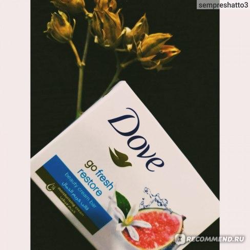 Мыло Dove с инжиром и лепестками апельсина