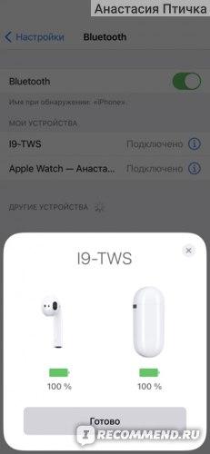 Наушники TWS i9s  фото