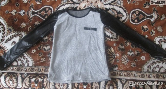 Кофта AliExpress Fashion Women Girls Crewneck Casual Leather Long Sleeve T Shirts Tops Tee Blouse sweater фото