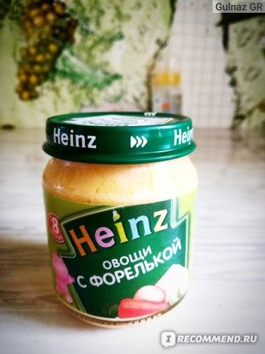 """Heinz """"овощи С ФОРЕЛЬКОЙ"""""""