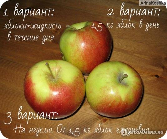 Диета на вареных яблоках