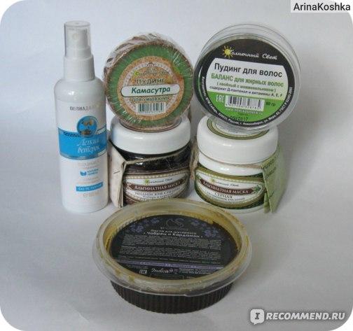 Твердый шампунь Солнечный свет Пудинг для волос Баланс для жирных волос (хвойный с можжевельником) фото