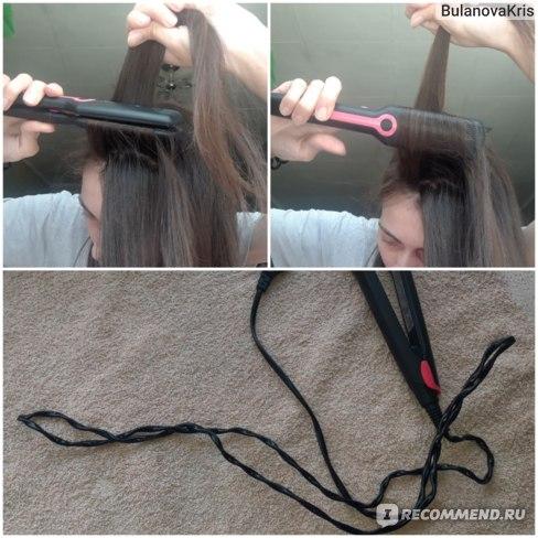 Выпрямитель для волос Sakura  SA-4516P, 35 Вт, 200ºС, пластины 90х27 мм, тефлоновое покрытие фото