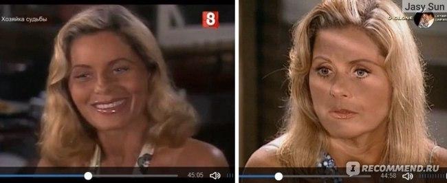 """Слева - """"Хозяйка судьбы"""" 2004 г, справа - """"Клон"""" 2002 г."""