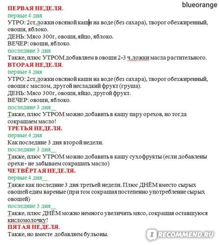 Диета Протасова Сокращенный Вариант.