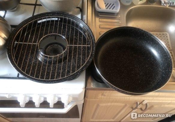 Вот такую площадь занимает размер сковородки