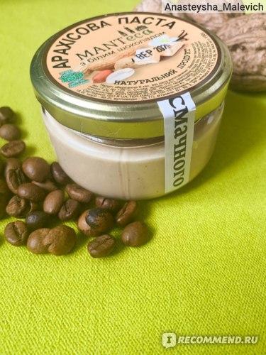 Арахисовая паста MantEca С белым шоколадом  фото