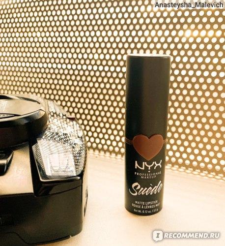 Матовая помада для губ NYX Professional Makeup Suede matte lipstick