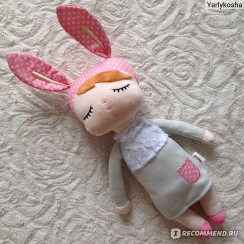 "Игрушка Aliexpress METOO Angela Dolls Rabbit Girls Clothes Skirt Plush Toys Soft Toys Gift for Kids Girls Bunny Dolls18 * 4 "" Presents # LNF  фото"