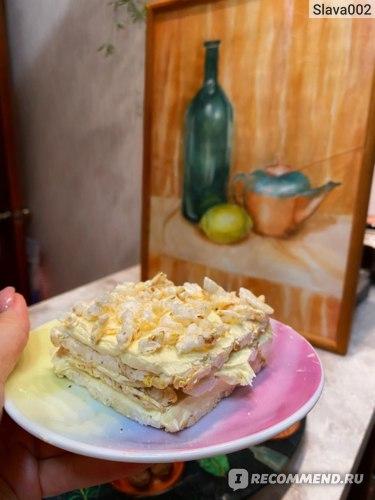 Пирожное с оставшимся кремом