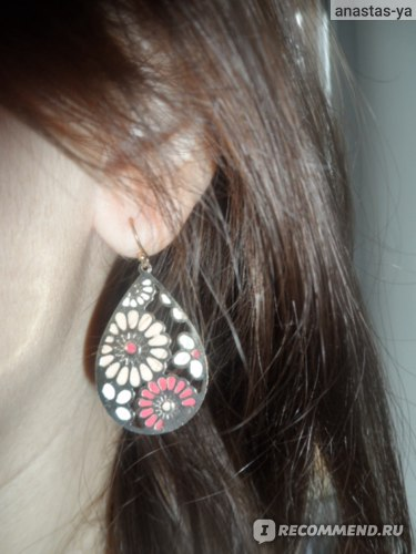 Серьги Aliexpress Fashion jewelry waterdrop hollow-out colorful enamel flower earrings for women фото