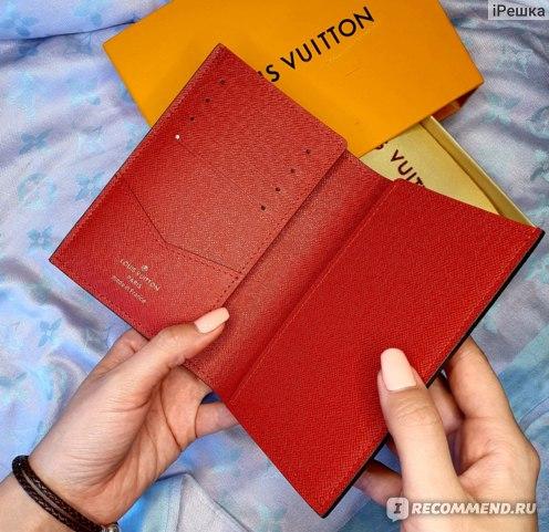 Обложка для паспорта Louis Vuitton monogram фото