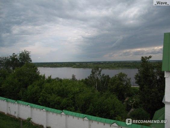 Вид на Оку с территории монастыря