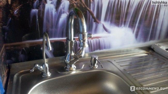 Дозатор для моющего средства Aliexpress Sink soap dispenser sink detergent bottle copper head stainless steel bottle фото