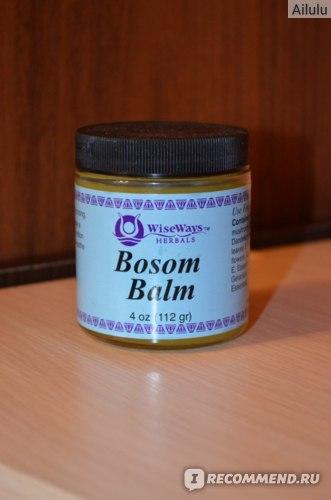 Бальзам для груди WiseWays Herbals , LLC, Bosom Balm, 4 oz (112 g) фото