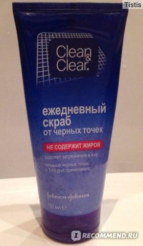 Скраб для лица Clean&Clear ежедневный от черных точек фото