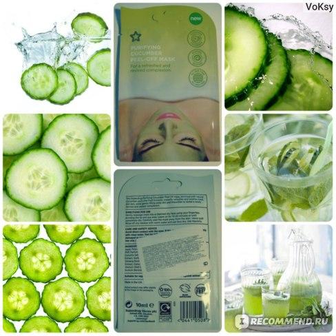 Маска-пленка для кожи лица Superdrug Purifying Cucumber Peel-Off Mask Огуречная фото