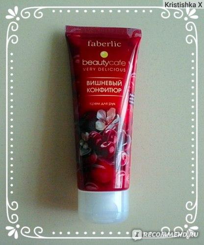 Крем для рук Faberlic «Вишневый конфитюр» серии Beauty Cafe фото