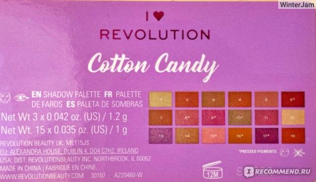 Палетка теней для век I Heart Revolution Cotton Candy фото
