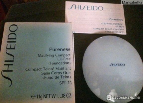 Пудра Shiseido Pureness Matifying Compact Oil-Free Foundation SPF 15 / Матирующая фото