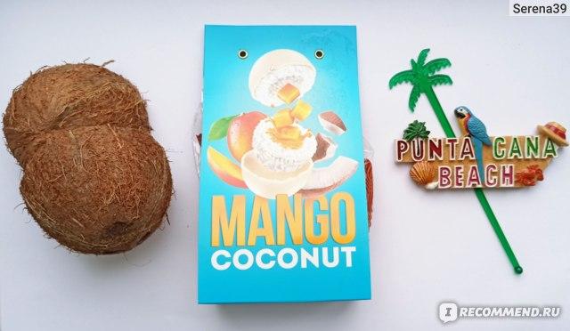 """Конфеты глазированные Tropical paradise Кокосовая конфета с начинкой """"МАНГО"""" фото"""