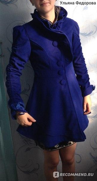 Пальто AliExpress 2014 winter baimuer laciness medium-long wool coat woolen outerwear women's woolen overcoat фото
